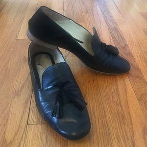 Sesto Meucci Black Tassel Leather Loafer